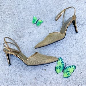 Yves saint laurent pointed toe ankle strap 8.5